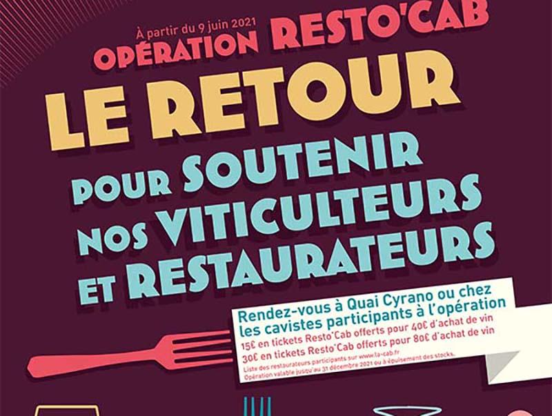 Opération Resto'CAB – Dès le 9 juin 2021
